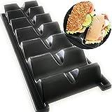 Kerafactum Hotdog - Soporte para salchichas, soporte para tacos, soporte para aperitivos, baguette, salchichas, salchichas, salchichas, soporte para panecillos, restaurantes, plástico