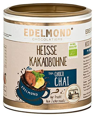 Bio Chai Latte. Vegan und zuckerfrei auf Kakao-Basis. Von Edelmond. Kein Pulver, Drops für Gewürz-Trinkschokolade oder Macciato Masala mit Milch oder Heißwasser. Dose 250g