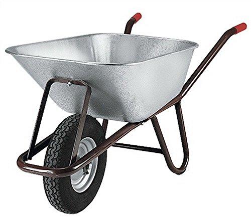 Tiefenmuldenkarre Inhalt 90l auf Stahlfelge Bereifung Luftrad 400 x 100 mm
