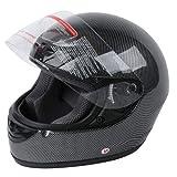 TCT-MT Adult Helmet DOT Motorcycle Carbon Fiber Flip Up Full Face Street Medium