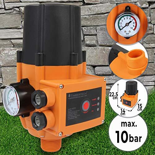 Pumpensteuerung mit oder ohne Kabel - mit Baranzeige, max. 10 bar, 12A, 230V, automatisches Ein- und Ausschalten, Trockenlaufschutz, Druckschalter, Druckwächter für Hauswasserwerk