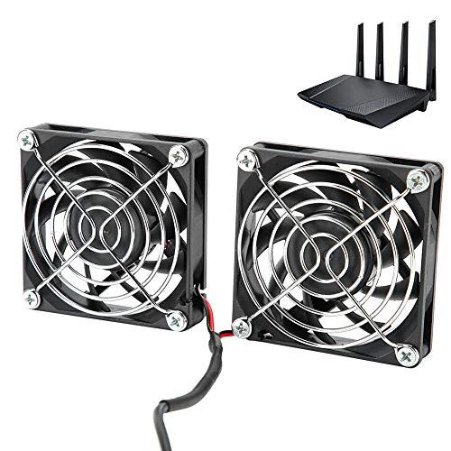 Enfriador de Enrutador, Enfriamiento de Energía USB de 5 V, Enfriador de Disipación de Calor de Enrutador de Doble Ventilador para ASUS RT-AC68U AC86U EX6200 Tengda AC15,45cm/17.7in