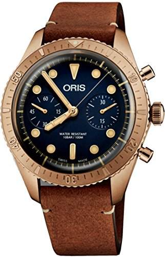 Oris Carl Brashear Chronograph Limited Edition Bronze Uhr 01 771 7744 3185-Set LS