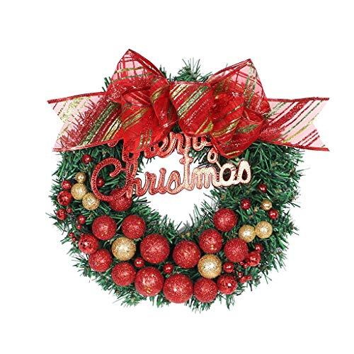AYDQC SDHUA Guirnalda de Navidad Colgante de ratán Hecho a Mano Guirnalda Centro Comercial Árbol de Navidad Decoración de la Puerta Guirnalda