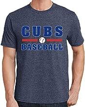 Cubs Baseball Men's T-Shirt 2376 (2X-Large,Heather Navy)
