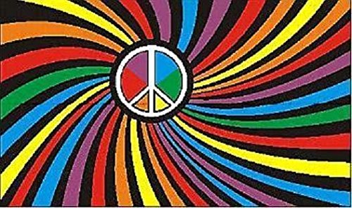 U24 Fahne Flagge Peace Bunt Friedensfahne 90 x 150 cm