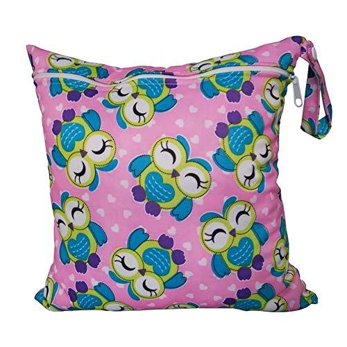 LAMEIDA Bolsa de pañales a prueba de agua Nappy Tote Bag Baby Changing Eco Bag con una sola cremallera