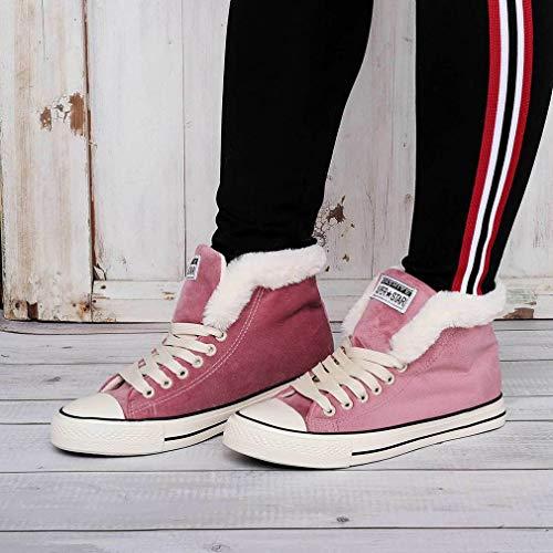 Damessneakers van canvas Home Vrije tijd Sneeuwsneakers Hoge/lage sneakers Roze Hoge top 36