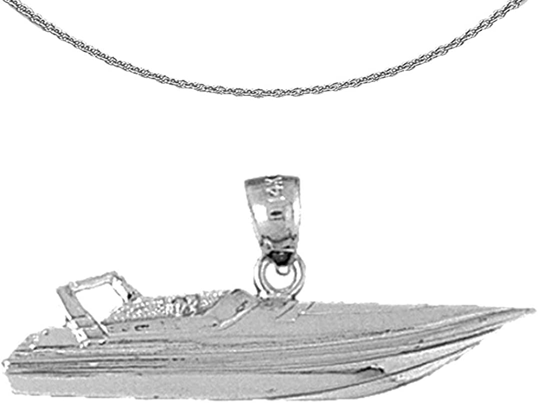 Jewels Obsession Gold Speed Race Boat 14K 25% OFF Necklace New popularity White