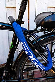 Edge Cadenas de Vélo Chaîne Granito Château avec chaînes Acier pour vélo et Moto 6 mm (Bleu, 90)