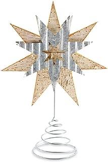 Mud Pie Christmas Birch Tin Star Tree Topper