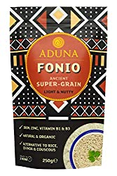 "BENEFITS: Fonio is an ancient Super-Grain that has been grown in West Africa for 5,000 years. Described as the ""new quinoa"", Fonio is a naturally gluten-free, nutrient-dense, low GI grain that is suitable for coeliacs and those with gluten intoleranc..."