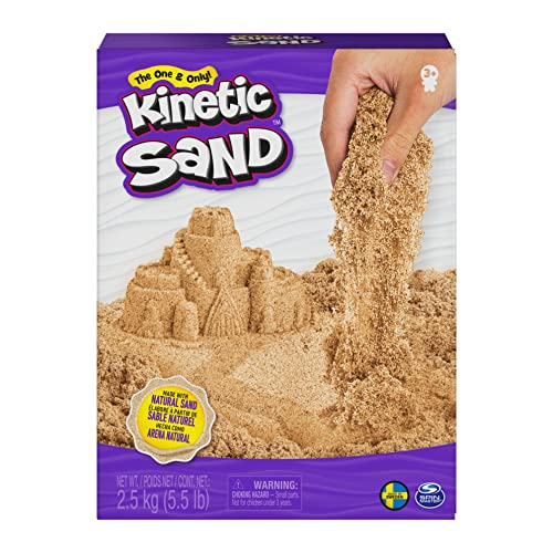 Kinetic Sand, 2,5 kg Original naturbraun Kinetic-Arena, Color marrón, Puede aplicar. (Spin Master 6060997)