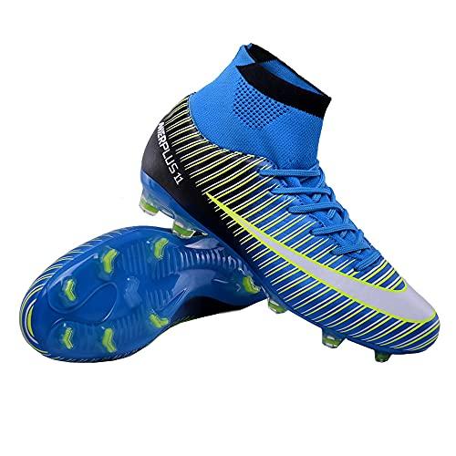 Scarpe da Calcio da Uomo Scarpe da Calcio Borchiate Scarpe da Allenamento per Ragazzi Sneakers