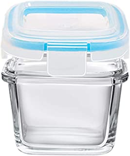 ACEHE Boîte de Rangement scellée, Produits Pratiques pour bébés avec Couvercle Complément Alimentaire en Verre trempé Boît...