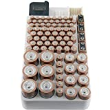Bee Neat Battery Organizer Storage Case with Energy Tester -...