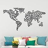 Ajcwhml Art World Map Wall Sticker Vinilo Impermeable Decoración del hogar Accesorios Decoración Moderna de la Pared Decoración del Arte DIY Decoración del hogar 58X107CM