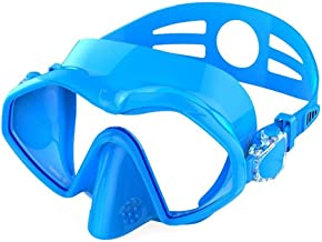 Scuba Profesional Máscaras, Anti-Niebla Gafas de Ultra-Light Silicona Equipo for Piscina Tubo Correa Ajustable Adulto, Azul ZHNGHENG