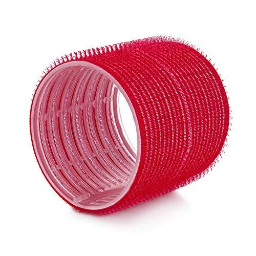 Ponik\'s Lockenwickler, Selbsthaftend Haftwickler Set - 70 mm - 6 Stücke - Jumbo Größe Selbsthaltende Rollen Selbst Griff Locken, Rot