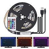 Kit de Ruban LED 2M - [4 Pack*0.5m]LED Bande 60 LEDs 5050 RGB LED Light Strip...