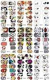 4hojas nueva Colección Completa De Transferencia De Agua Nail Art Wraps (cada hoja en 9diseño 12Wraps, total 36diseños)