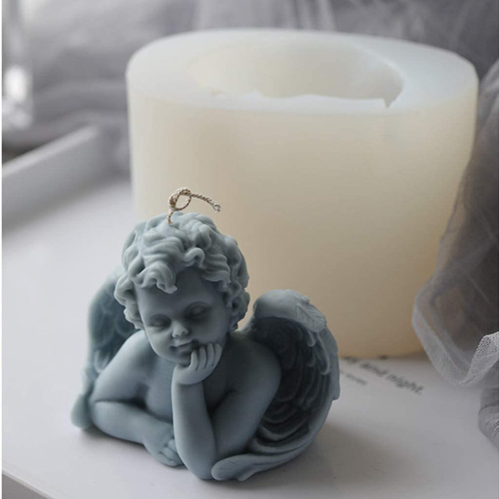 STARKVND Charlotte Mall Angel Silicone Molds 3D Ultra-Cheap Deals Baby Girl Prayers Soap Mold Boy
