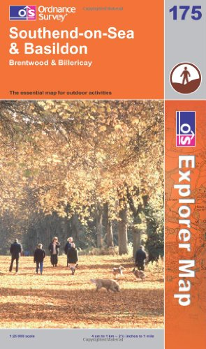 OS Explorer map 175 : Southend-on-Sea & Basildon