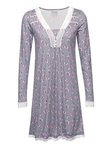 Vive Maria Flower Boudoir Nachthemd grau Allover, Größe:L