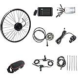 SKYWPOJU Kit de conversión de Motor de Bicicleta eléctrica de Rueda Trasera de 48V 1000W Kit de Motor de Bicicleta eléctrica con buje de Rueda Trasera de Bicicleta eléctrica con Pantalla KT-LCD8H