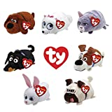 TEENY TYS TY Beanie Boos Stackable Plush - Secret Life of Pets - Set of 7 (4 inch)