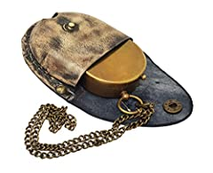 The New Antique Store - Antique Brass Compass Nautical Pocket Backpacking Compass Leather Case Vintage Camping Hiking Direction Marine Graduation Confirmation Day Engravable for Men Quality Travel #2