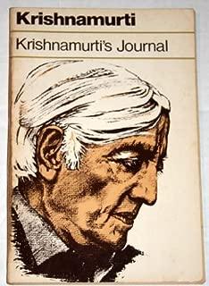 Krishnamurti's Journal by J. Krishnamurti (1982-03-03)