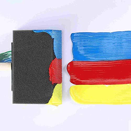 ZWMスポンジブラシペイント用絵具刷毛絵画ツール木製ハンドル軽量耐久性直接染色水彩汚れワニスペイントリムーバー幼稚園汎用
