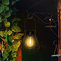 Vcuteka Hanging Vintage Solar Waterproof Edison Table Lamp