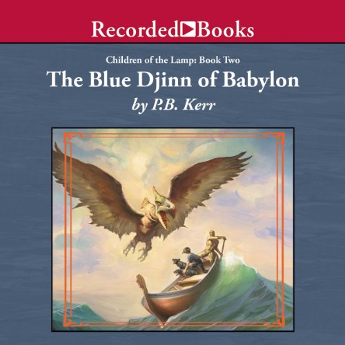 The Blue Djinn of Babylon audiobook cover art
