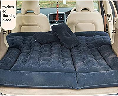 LARPlink Car Air Mattress - Camping Accessories - Inflatable Travel Bed - Special Design - SUV/Minivan/Tent - Car Lighter Air Pump - Inflate/Deflate Quickly - Two Bonus Pillows - Comfortable Travel