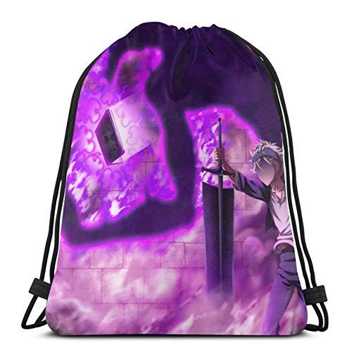 Asta Fighting His Demon Drawstring Backpack Gym Sack Pack Solid Cinch Pack Sinch Sack Borsa con cordino sportivo con borsa da spiaggia tascabile