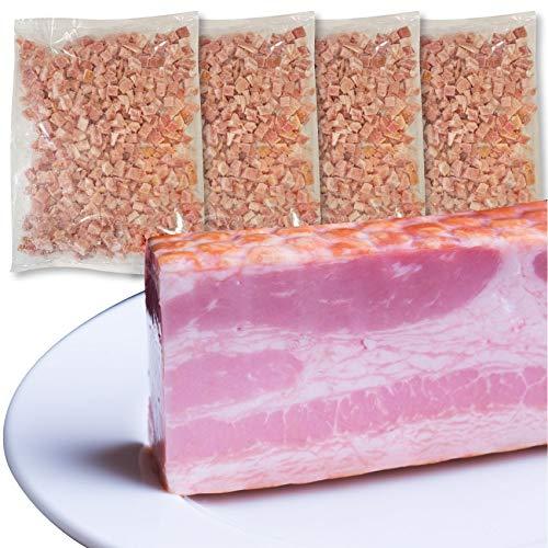 ベーコン 角切り ダイスカット 業務用 2kg (500g×4個セット)お試し 使い切り 惣菜 朝食用 時短 急速冷凍 IQF 《*冷凍便》