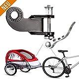 WELLXUNK Acoplador de Enganche de Remolque para Bicicleta y Remolque, de Acero, Conector de Repuesto para polea de Bicicleta y Barra de liberación rápida
