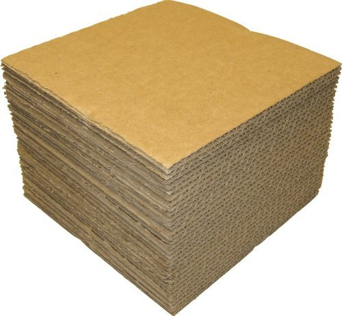 (50) - 12 Kraft Brown LP Record Pads - 12 7/16 x 12 7/16 - Extra Protection for Shipping Records #12NCPAD