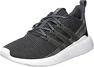 adidas Questar Flow Contrast Sole Lace-Up Running Shoes for Women - Grey 6 and Core Black, 36 2/3