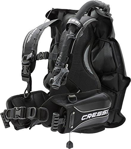 Cressi Patrol -Tarierjacket der EXTRAKLASSE- Professionnels Model mit Blase auf der Rückseite, Schwarz, M