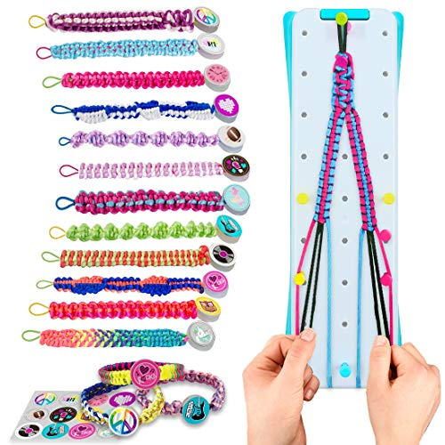 VERTOY Friendship Bracelet Making Kit for Girls - Cool Arts and Crafts Toys for 6 7 8 9 10 11 12 Years Old, Bracelet String and Rewarding Activity, Best Birthday Gifts for Teen Girls
