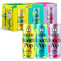 12-pack Health-Ade Booch Pop Organic Soda Made with Kombucha, Calcium and Magnesium, 12 fl. oz. Cans (Variety Pack)