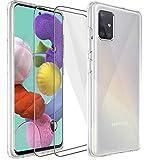 Samsung Galaxy A51 Hülle Panzerglas, [1 Handyhülle 2
