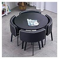 耐久性のあるテーブルと椅子のセット 表コーヒーパンデザート表洋食レストランバーシネマライブラリをダイニングテーブルと椅子コンビネーションバルコニーリビングルーム DYYD (Color : A)