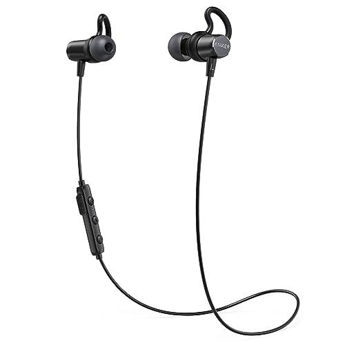 Anker Écouteurs Bluetooth 4.1 SoundBuds Surge Bluetooth - Oreillettes Sport sans Fil avec Protection Waterproof, connecteurs magnétiques et Pochette de Transport pour la Gym/Course/Jogging