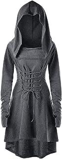 XWLY Dress Donna Elegante Casual Retro Style Slim Comodo Abito Tinta Unita Autunno Ladies Party Dress Cosplay Nuovo Costum...