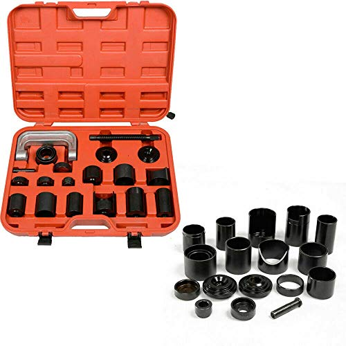 Dyrabrest Ball Joint Auto Repair Tool Kit, 21Pcs Ball Joint Auto Repair Remover Press Service Adapter Set C Frame Install