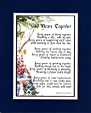 40th Wedding Anniversary Poem - Double Matted in Navy over White